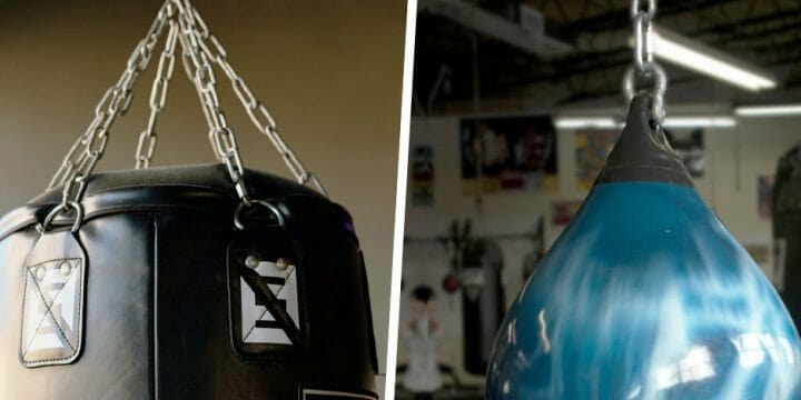 difference between a water heavy bag and a traditional bag