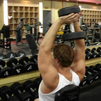 man in a gym working out