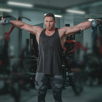 man working out inside a gym