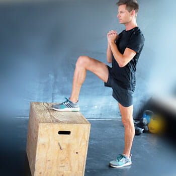 man doing lateral jumps