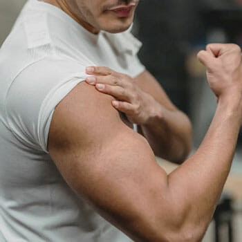 close up image of a man's biceps
