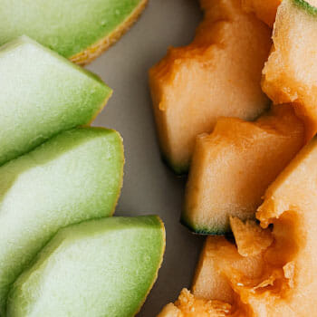 plate of melon slices