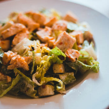 ceasar salad in a plate
