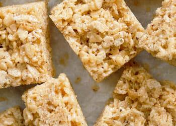 plate of rice krispy treats