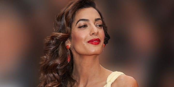 Amal Clooney smiling