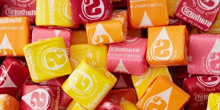 Collection of starburst candies