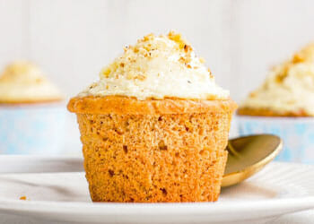 plate of a carrot cupcake