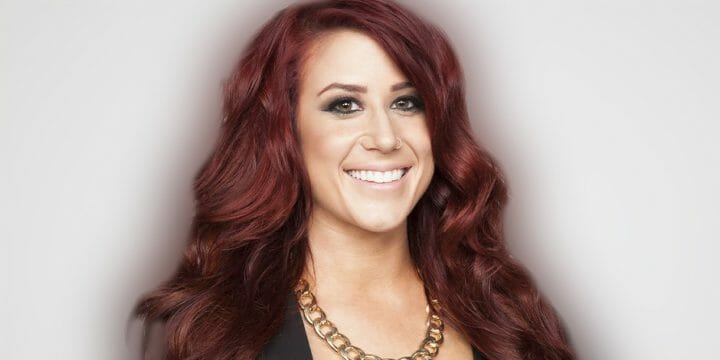 Chelsea Houska smiling in front of the camera