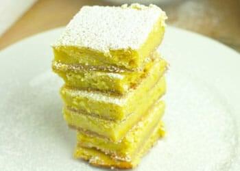 stack of Gluten-Free Lemon Bars