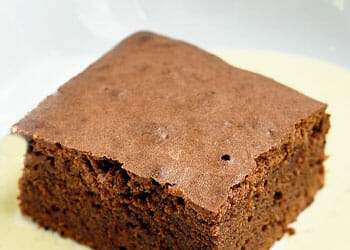 close up image of a brownie