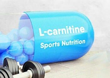 A 3D sample of an L-carnitine supplement