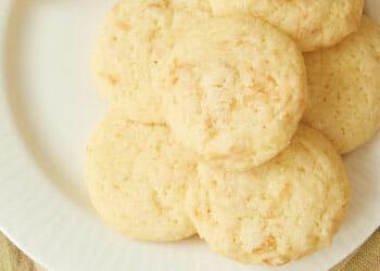 plate of lemon coconut cookies