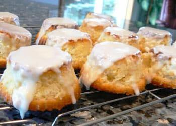 freshly baked mini olive oil cakes