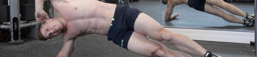 Scott Herman doing side planks