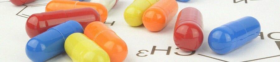 Fat burner pills with language of chemistry