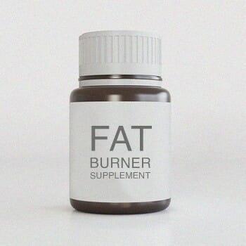 A bottle of Fat burner supplement