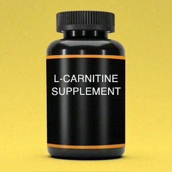 A bottle of L-Cartnitine supplement