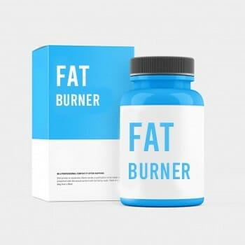 Fat burner supplements inside a bottle
