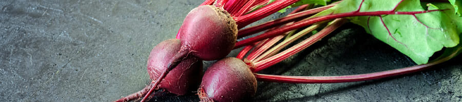 close up image of a fresh beetroot