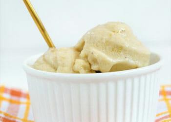 cup of banana ice cream