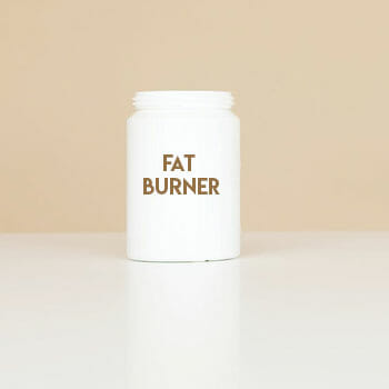 container of a fat burner