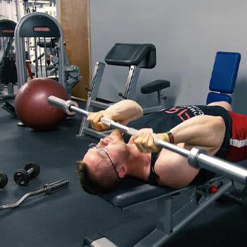 man in a jm press position