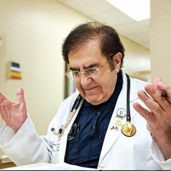 doctor nowzaradan in a hospital shrugging