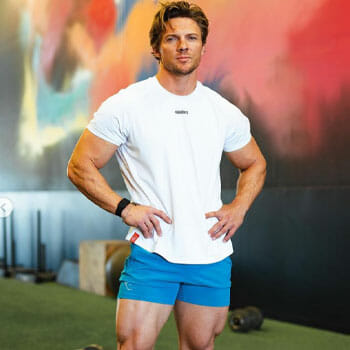 Steve Cook inside a gym
