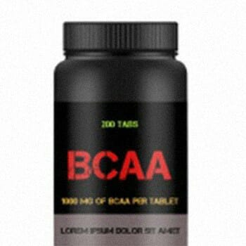 A small black container of BCAA