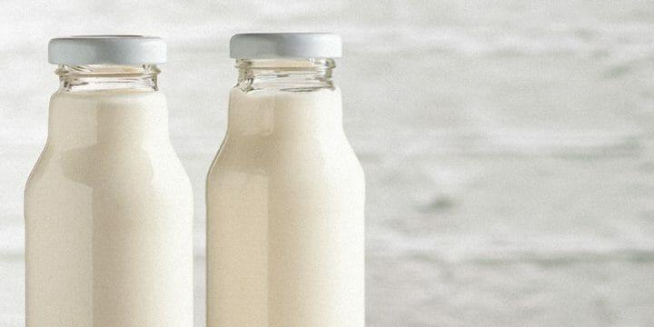 A two bottle of probiotics