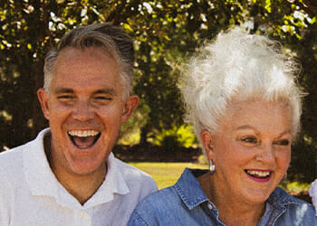 Old people smiling