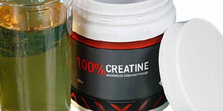 A large container for a creatine supplement