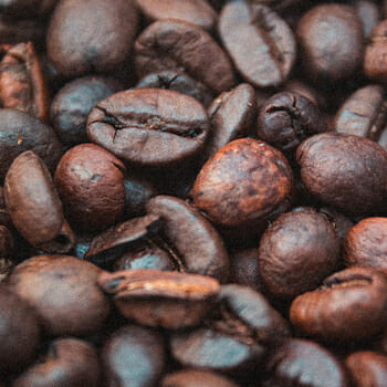 Coffee beans close up image