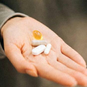 Zinc supplement on hand