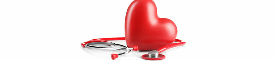 red heart toy and a stethoscope