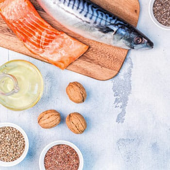 food with omega 3 nutrients on a table