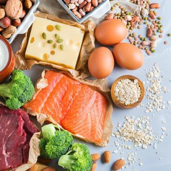 high protein food sources in one image