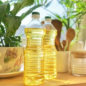 cooking oil in bottles