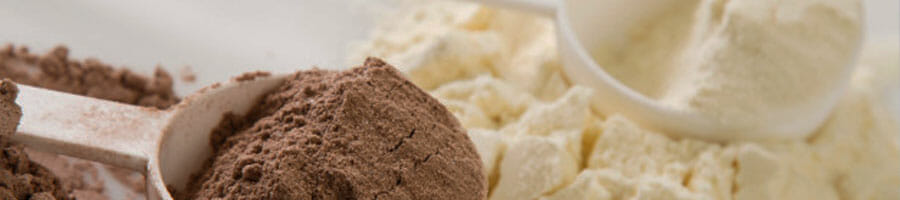 close up image of a brown and white powders