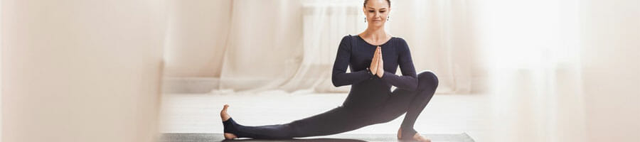woman doing a yoga workout