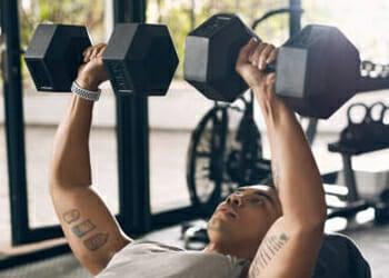 Dumb bell chest press exercise