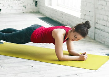 A commonly used plank exercise