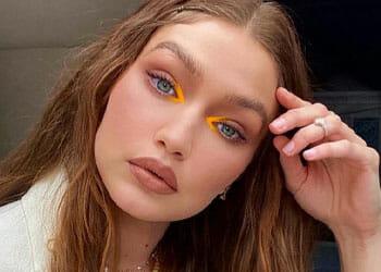 Gigi Hadid with orange makeup