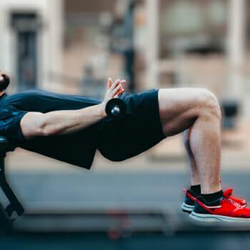 A man performing a hip thrust