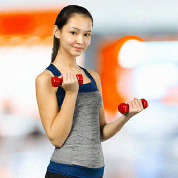 Dumb bell bicep curls exercise