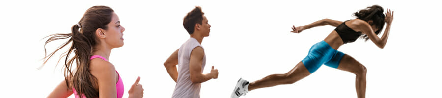 Jogging and sprinting