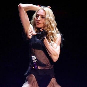 Madonna dancing on stage