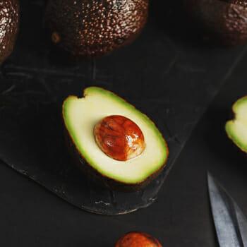 A slice of avocado fruit