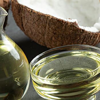 Coconuts behind coconut oils