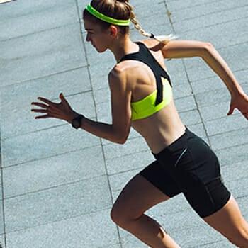 Woman outdoor running